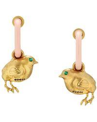 Gucci Серьги-кольца Chick - Розовый