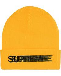 Supreme ロゴ ビーニー - イエロー