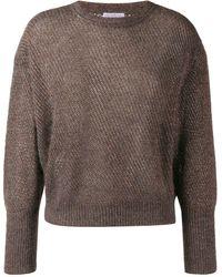 Brunello Cucinelli - Glitter-look Knit Jumper - Lyst