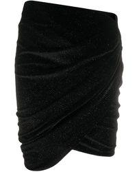 Alexandre Vauthier ベルベット ミニスカート - ブラック