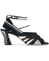Fendi Ffreedom Sandals - Black