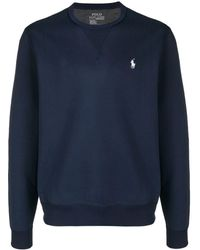 Polo Ralph Lauren Logo Embroidered Sweatshirt - Blauw