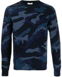 Valentino Trui Met Camouflageprint - Blauw