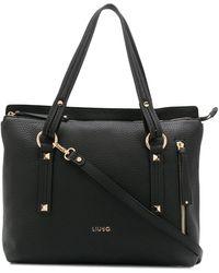 Liu Jo ロゴ ハンドバッグ - ブラック