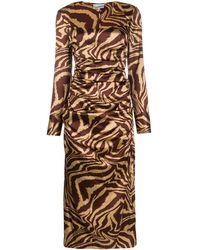 Ganni - タイガー ドレス - Lyst