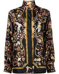 Hermès Camicia a fiori anni '80 - Multicolore