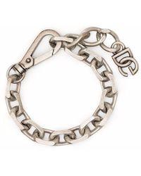 Dolce & Gabbana Цепочный Браслет С Логотипом - Металлик