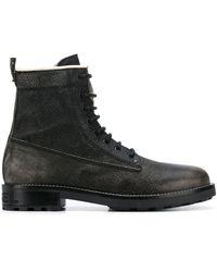 DIESEL Combat Ankle Boots - Black