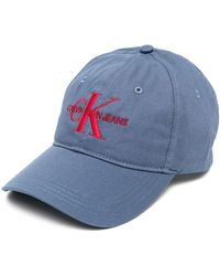 Calvin Klein Cappello da baseball con ricamo - Blu