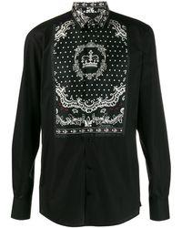 Dolce & Gabbana Bandana Poplin Shirt - Black