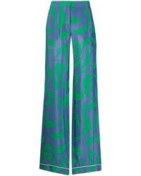 Off-White c/o Virgil Abloh Leaves Illusion Printed Pants - Blue