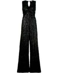 P.A.R.O.S.H. - Sleeveless Sequin Jumpsuit - Lyst