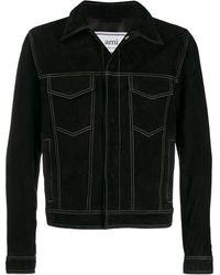 AMI スエード ジャケット - ブラック