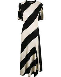 Stella McCartney - ストライプ ケープスタイルドレス - Lyst