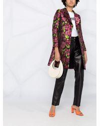 Twin Set Жаккардовое Пальто С Цветочным Узором - Розовый