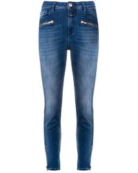 Closed - Ankle Zips Skinny Jeans - Lyst