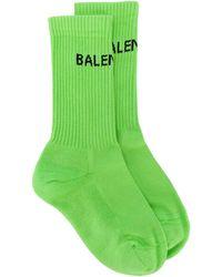 Balenciaga ロゴ靴下 - グリーン