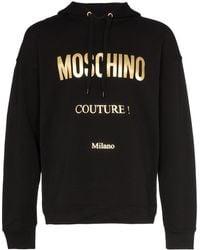Moschino Couture Logo Printed Hoodie - Black