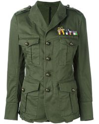 DSquared² - Golden Arrow Stretch-Cotton Military Jacket - Lyst