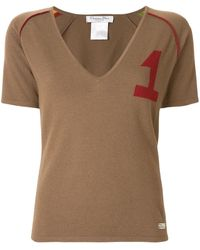 Dior Varsity-style Knitted Top - Brown