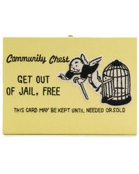 Olympia Le-Tan Clutch Get Out Of Jail Free - Amarillo