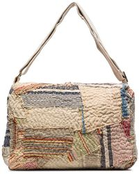 By Walid 19th Century Patchwork Messenger Bag - Multicolor