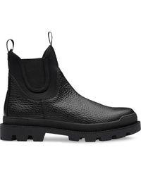 Prada - Ботинки Из Зернистой Кожи - Lyst