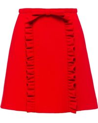 Miu Miu - Natté Crepe Skirt - Lyst