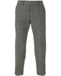 AMI Pantalones capri de corte carrot - Gris