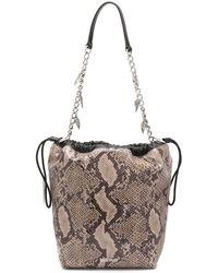 Just Cavalli Snakeskin-effect Shoulder Bag - Brown