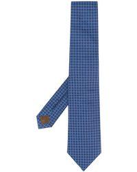 Church's Plaid Print Tie - Blue