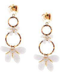 Lele Sadoughi Trumpet Earrings - White