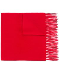 N.Peal Cashmere Bufanda entretejida de cashmere - Rojo