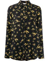 Ganni Рубашка С Цветочным Принтом - Черный