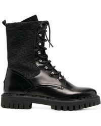 Tommy Hilfiger Ботинки В Стиле Милитари С Монограммой - Черный