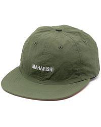Maharishi Embroidered-logo Flat Cap - Green