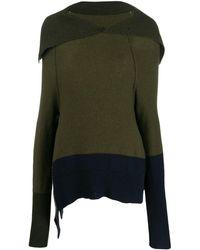Y's Yohji Yamamoto スプレッドカラー セーター - グリーン