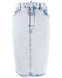DSquared² Denim Pencil Skirt - Blue