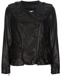 3.1 Phillip Lim - Button Detail Leather Jacket - Lyst