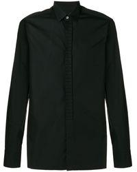 Lanvin プリーツ シャツ - ブラック