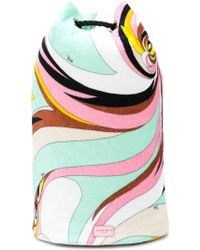 Emilio Pucci - Oversized Printed Backpack - Lyst
