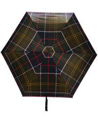Barbour Маленький Зонт В Клетку Тартан - Зеленый