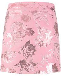 Stine Goya フローラル ミニスカート - ピンク