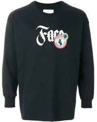 Facetasm ロゴプリント ロングtシャツ - ブラック