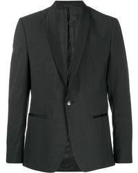 Calvin Klein Пиджак С Атласной Отделкой - Черный