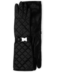 Prada キルティング バックル手袋 - ブラック