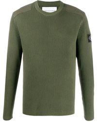 Calvin Klein Trui Met Logopatch - Groen