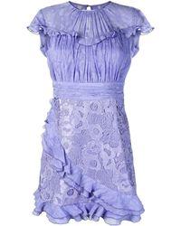 Three Floor Doll House Dress - Blue