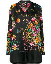 Gucci - Flora Silk Shirt - Lyst