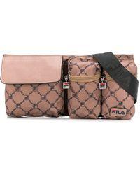 Fila All-over Logo Belt Bag - Brown